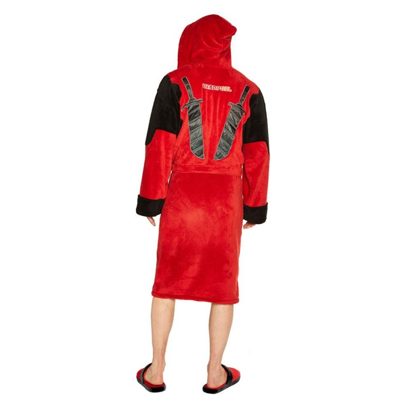 MARVEL COMICS DEADPOOL FLEECE BATHROBE ACCAPPATOIO GROOVY UK