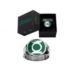 DC COMICS GREEN LANTERN STAINLESS STEEL RING ANELLO ACCIAIO SALES ONE
