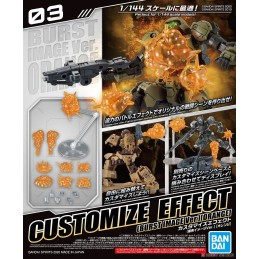 BANDAI CUSTOMIZE EFFECT BURST SCENE ORANGE VER MODEL AND FIGURE 1/144