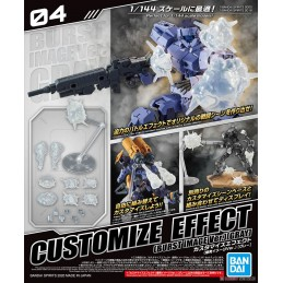 BANDAI CUSTOMIZE EFFECT BURST SCENE GRAY VER MODEL AND FIGURE 1/144