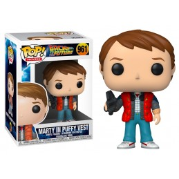 FUNKO POP! BACK TO THE FUTURE MARTY MCFLY IN PUFFY VEST BOBBLE HEAD KNOCKER FIGURE FUNKO