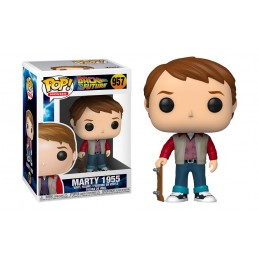 FUNKO FUNKO POP! BACK TO THE FUTURE MARTY MCFLY 1955 BOBBLE HEAD KNOCKER FIGURE
