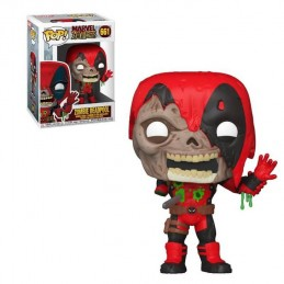 FUNKO POP! MARVEL ZOMBIE DEADPOOL BOBBLE HEAD FIGURE FUNKO