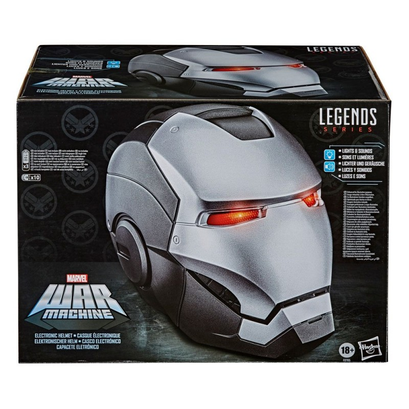 MARVEL WAR MACHINE ELECTRONIC HELMET FULL SCALE CASCO 1/1 HASBRO