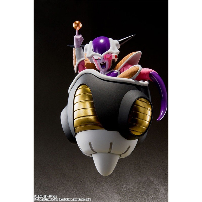DRAGON BALL Z FRIEZA (FREEZER) FIRST FORM + POD SET S.H. FIGUARTS ACTION FIGURE BANDAI