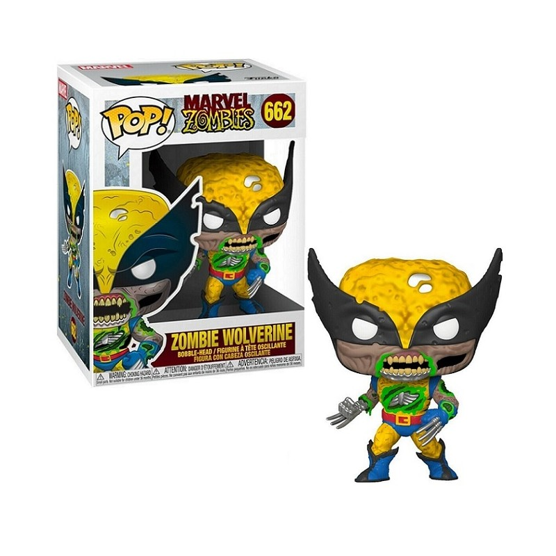 FUNKO FUNKO POP! MARVEL ZOMBIE WOLVERINE BOBBLE HEAD FIGURE
