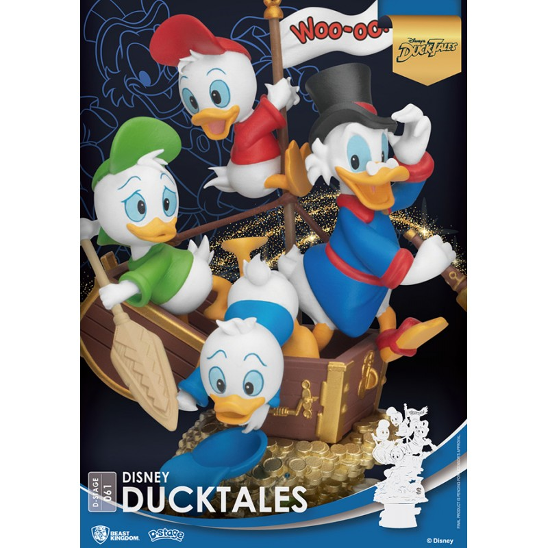 BEAST KINGDOM D-STAGE DISNEY DUCKTALES STATUE FIGURE DIORAMA