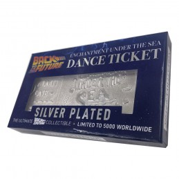 BACK TO THE FUTURE ENCHANTMENT UNDER THE SEA TICKET SILVER PLATED REPLICA 1/1 CHRONICLE COLLECTIBLES