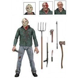 NECA FRIDAY THE 13TH PART 3 ULTIMATE JASON VOORHEES DELUXE ACTION FIGURE