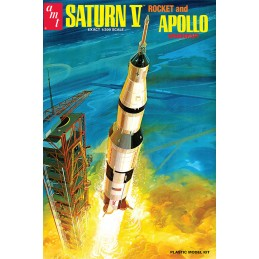 MPC SATURN V ROCKET AND APOLLO SPACECRAFT MODEL KIT 1/200 FIGURE 45CM