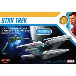 POLAR LIGHTS STAR TREK U.S.S. GRISSOM NCC-638 AND KLINGON BIRD OF PREY 1/1000 MODEL KIT