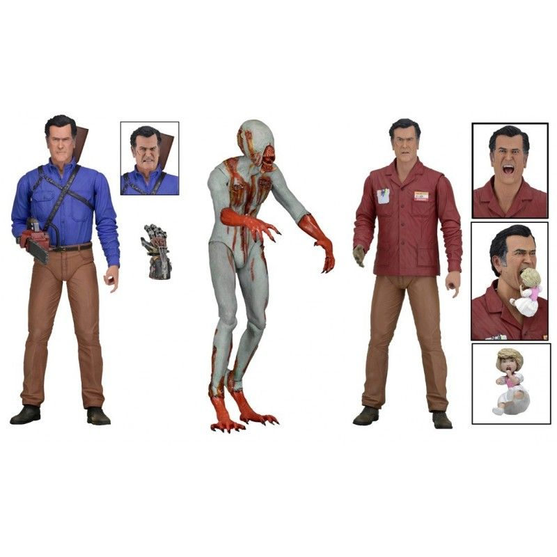 ASH VS EVIL DEAD SERIES 1 - SET COMPLETO DI 3 ACTION FIGURE NECA