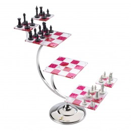 NOBLE COLLECTIONS STAR TREK TRIDIMENSIONAL CHESS SET SCACCHI