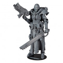 MC FARLANE WARHAMMER 40000 ADEPTA SORORITAS BATTLE SISTER UNPAINTED 18CM ACTION FIGURE