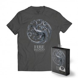 SD TOYS MAGLIA T SHIRT GAME OF THRONES TARGARYEN METALLIC LOGO