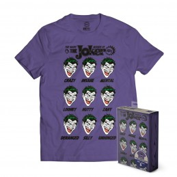 SD TOYS MAGLIA T SHIRT DC COMICS THE MANY MOODS OF THE JOKER