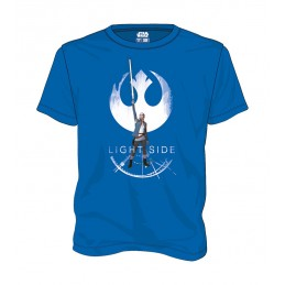 MAGLIA T SHIRT STAR WARS EPISODE VIII REI LIGHT SIDE SD TOYS