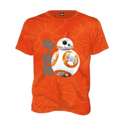 MAGLIA T SHIRT STAR WARS EPISODE VII BB-8 ORANGE SD TOYS
