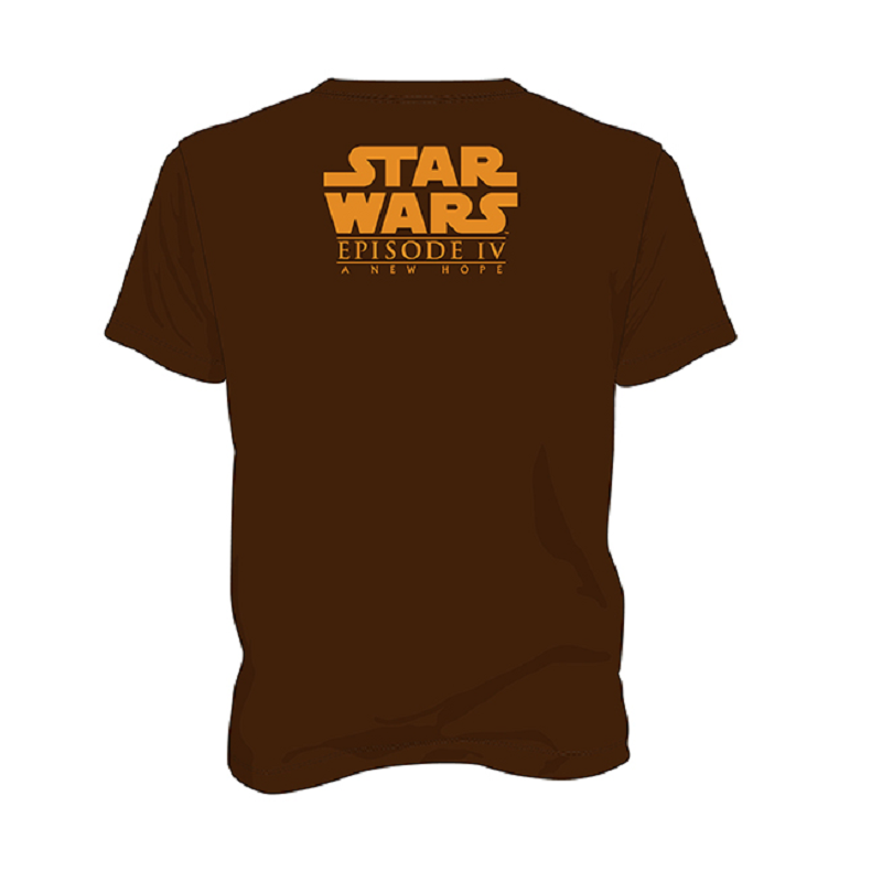 MAGLIA T SHIRT STAR WARS EPISODE IV A NEW HOPE TATOOINE BROWN SD TOYS