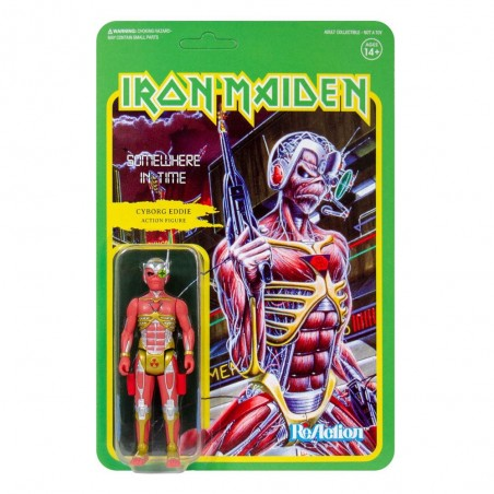 IRON MAIDEN REACTION - SOMEWHERE IN TIME CYBORG EDDIE ACTION FIGURE