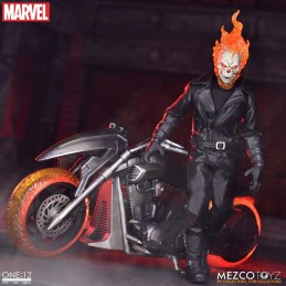 GHOST RIDER AND HELL CYCLE ONE:12 ACTION FIGURE MEZCO TOYS