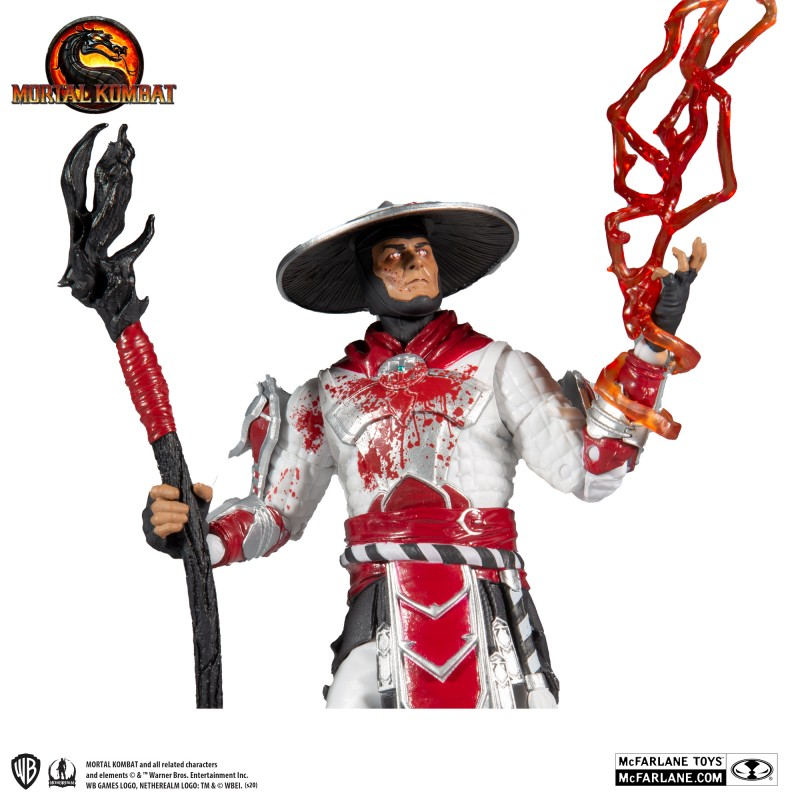 MC FARLANE MORTAL KOMBAT 4 RAIDEN WHITE HOT FURY 18CM ACTION FIGURE