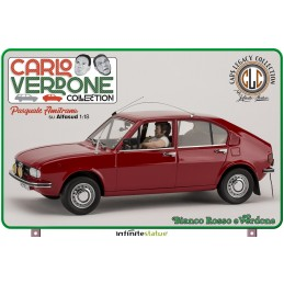 INFINITE STATUE PASQUALE AMITRANO ON ALFASUD 1/18 SCALE FIGURE REPLICA