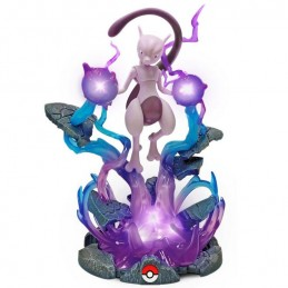 POKEMON LIGHT-UP DELUXE MEWTWO 25CM STATUE FIGURE BOTI