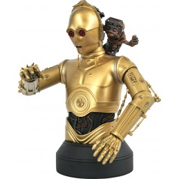 STAR WARS THE RISE OF SKYWALKER C3PO AND BABU FRIK BUSTO STATUA DIAMOND SELECT