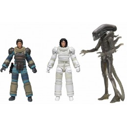 ALIEN 40TH ANNIVERSARY SERIE 4 SET 3X ACTION FIGURE NECA