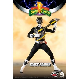 THREEZERO POWER RANGERS BLACK RANGER 30CM ACTION FIGURE
