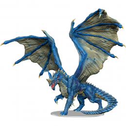 WIZKIDS ICONS OF THE REALM ADULT BLUE DRAGON PREMIUM SET FIGURE