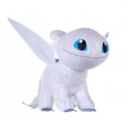 DRAGON TRAINER 3 LIGHT FURY GLOW IN THE DARK PLUSH PELUCHE 32 CM FIGURE JOY TOY