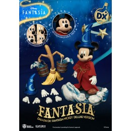 BEAST KINGDOM FANTASIA MICKEY MOUSE DELUXE DAH-041DX CLOTH ACTION FIGURE