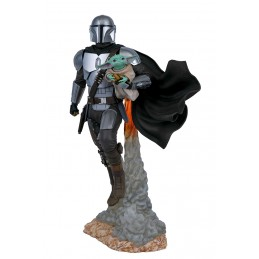 STAR WARS MILESTONES THE MANDALORIAN AND THE CHILD 40CM STATUA FIGURE DIAMOND SELECT