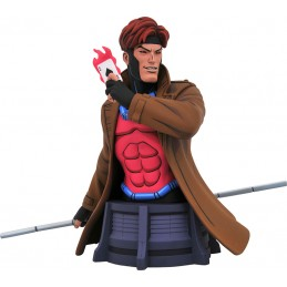 DIAMOND SELECT MARVEL ANIMATED X-MEN GAMBIT BUST STATUE 17CM RESIN FIGURE