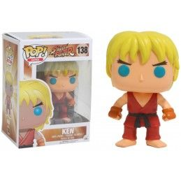FUNKO POP! STREET FIGHTER - KEN BOBBLE HEAD KNOCKER FIGURE FUNKO