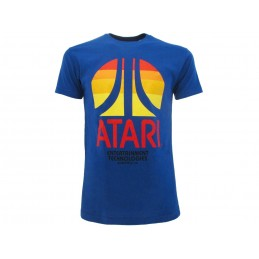 MAGLIA T SHIRT ATARI ENTERTAINMENT TECHNOLOGIES BLU
