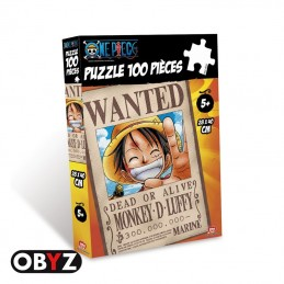 ONE PIECE PUZZLE WANTED LUFFY 100 PIECES PEZZI