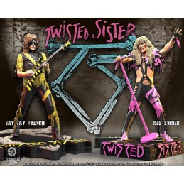 TWISTED SISTER 2-PACK DEE SNIDER AND JAY JAY FRENCH STATUA FIGURE KNUCKLEBONZ