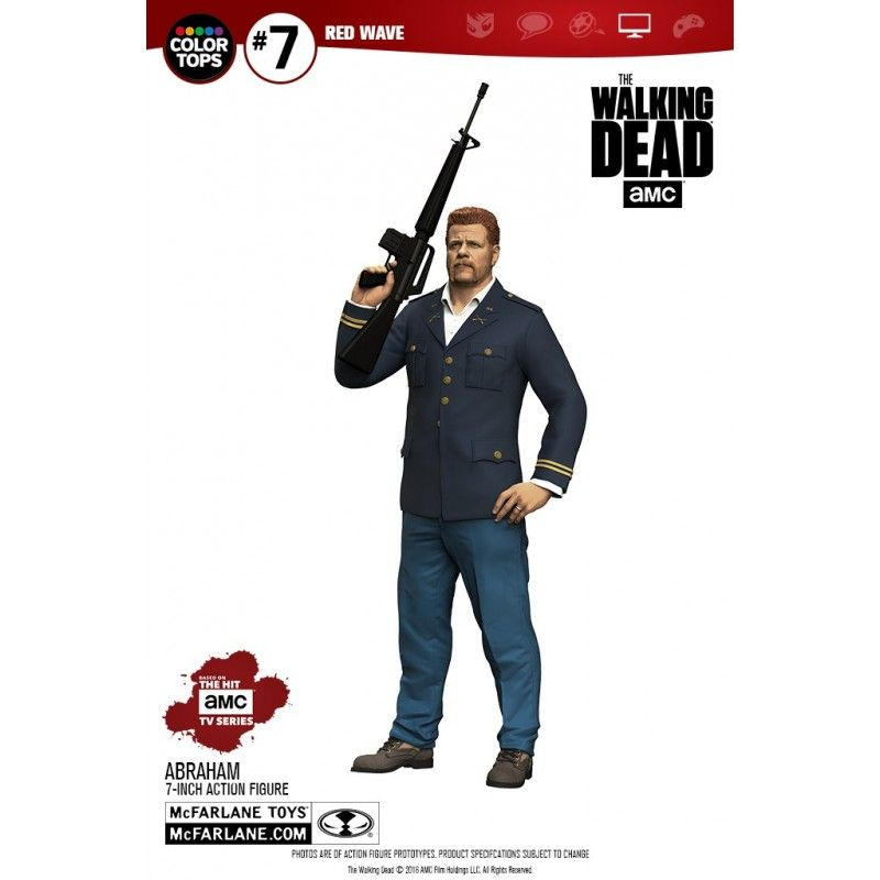 THE WALKING DEAD TV VERSION COLOR TOPS ABRAHAM FORD ACTION FIGURE