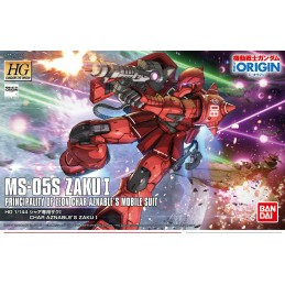 HIGH GRADE HG MS-05S ZAKU I GUNDAM THE ORIGIN 1/144 MODEL KIT ACTION FIGURE