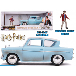 HARRY POTTER 1959 FORD ANGLIA DIE CAST 1/24 MODEL JADA TOYS