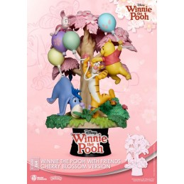 BEAST KINGDOM D-STAGE WINNIE THE POOH WITH FRIENDS CHERRY BLOSSOM VER 064 STATUE FIGURE DIORAMA