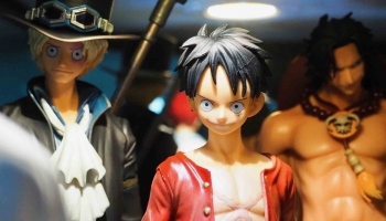 The pirates of One Piece portrayed in the Banpresto action figures
